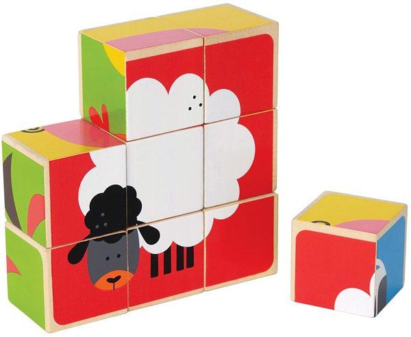 Large hape farm block puzzl