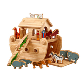 Small noahs noah and the ark coloured animals lanka kade fair trade toy toys wooden wood natural fun junction toy shop stop store crieff perth perthshire scotland 2