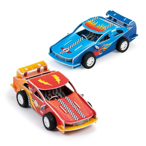 Large galt printed foam board make your own racing cars for children aged 6 six years and up