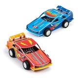 Small galt printed foam board make your own racing cars for children aged 6 six years and up