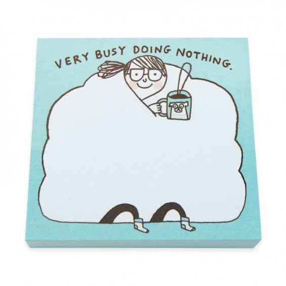 Large gemma pn 007 busy doing nothing sticky notes 1 2