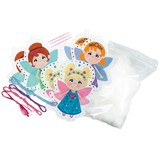 Small felt fairies decorative precut hole punched sewing kit craft activity for children aged 5 five years and up