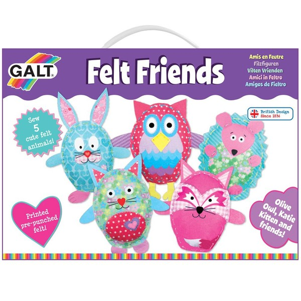 Large fun junction galt craft kit felt friends early sewing set