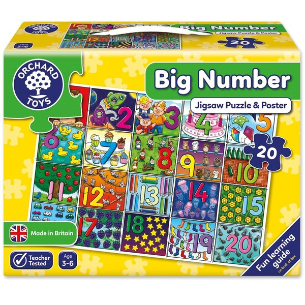 Large orchard toys big number jigsaw jigsaw puzzle