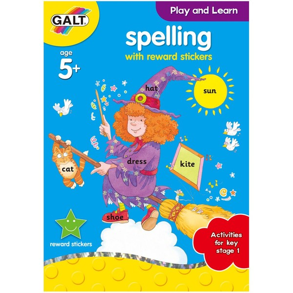 Large galt spelling full colour activity book with reward stickers for 5 five years and up