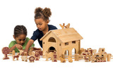 Small delux farm with barn tractor and animals lanka kade fair trade toy toys wooden wood natural fun junction toy shop stop store crieff perth perthshire scotland 3