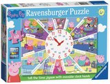 Small ravensburger fun junction toy shop perth crieff perthshire scotland jigsaw puzzle jig saw peppa pig tell the time jigsaw 60pc clock puzzle