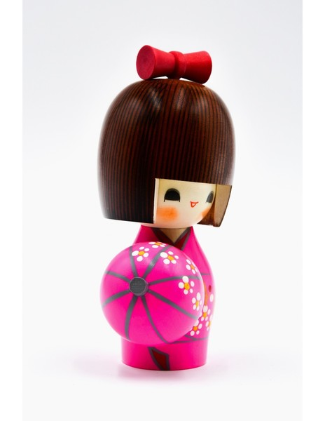 Large kokeshi doll sweet spring haruurara