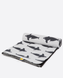 Small anorak orca picnic blanket half rolled