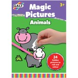 Small galt magic coin rub picture animals scratch and colour