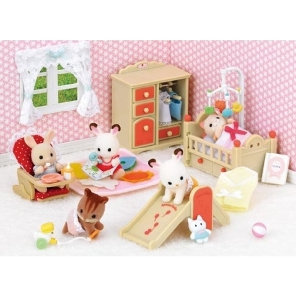 Large sylvanian families 5036 baby room set sq