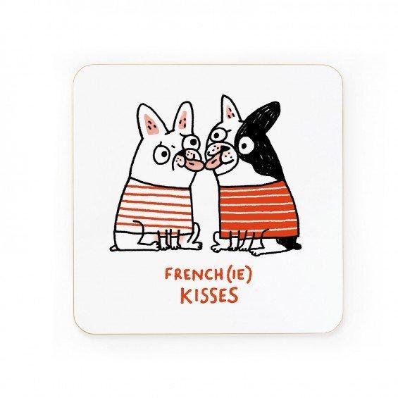 Large gemma co 016 frenchie kisses coaster