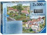 Small ravensburger fun junction toy shop perth crieff perthshire scotland jigsaw puzzle cosy cottages north yorkshire 2x two pack 500pc piece