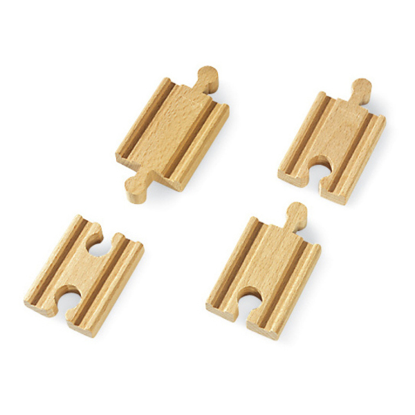 Large mini straight track tracks double ended two male two female connectors brio railway wooden track add ons on accessories