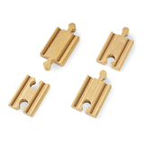 Small mini straight track tracks double ended two male two female connectors brio railway wooden track add ons on accessories