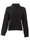 Small nywkn106 rachael black knit