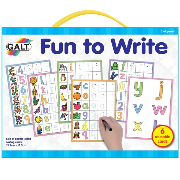 Large fun junction galt first writing handwriting fun to write kit set wipe clean boards numbers and letters
