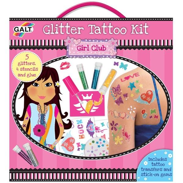 Large galt girl club glitter tattoo kit stencils
