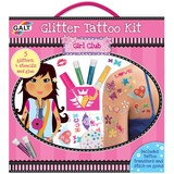 Small galt girl club glitter tattoo kit stencils