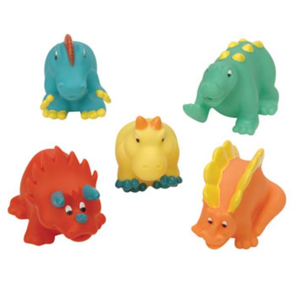 Large battat bath buddies dinosaurs dinosaur dino soft plastic bath toys squirt squirters
