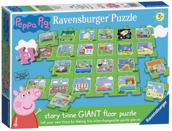 Large ravensburger fun junction toy shop perth crieff perthshire scotland jigsaw puzzle jig saw peppa pig story time giant 24pc floor puzzle tell your own story