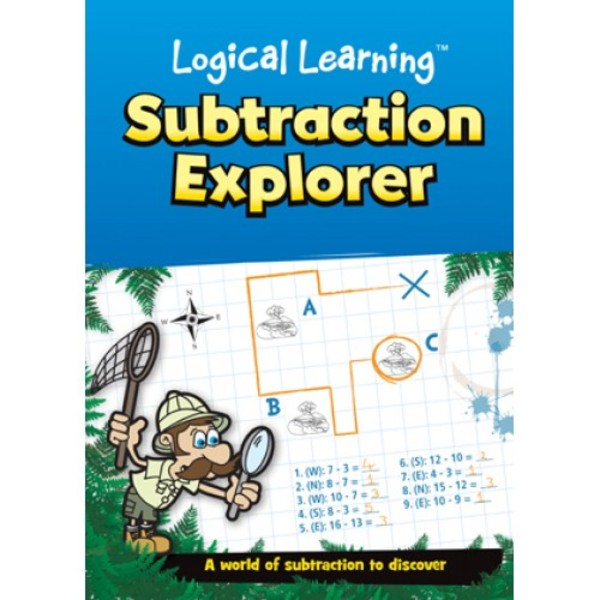 Large logical learning subtraction maths mathematics activity book