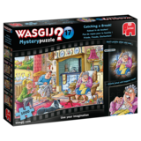 Small wasgij mystery 17 catching a break  jigsaw puzzle
