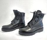 Small eyelet black sparkle tongue leather boot blink