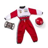 Small toy scotland melissa doug dress up costume pretend play race car driver helmet steering wheel