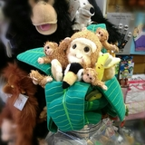 Small puppet company hideaway monkey tree toucan bananas hide away