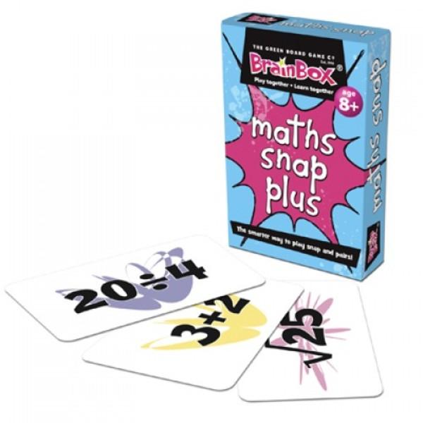 Large math snap plus mathematics pairs snap card game