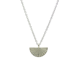 Small 1971 silver fan necklace  1
