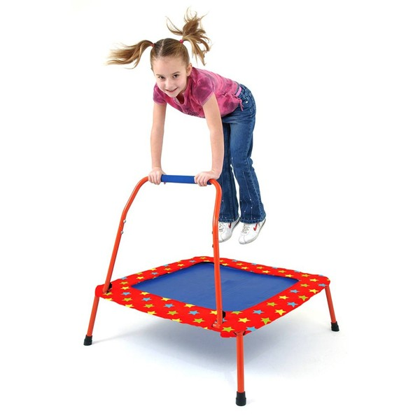 Large galt first folding bungee chord trampoline with handle for children aged 3 three years and up
