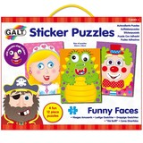 Small galt sticker puzzles funny faces for children aged 3 three years and up