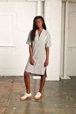 Small nyss19 grey stripe linen dress