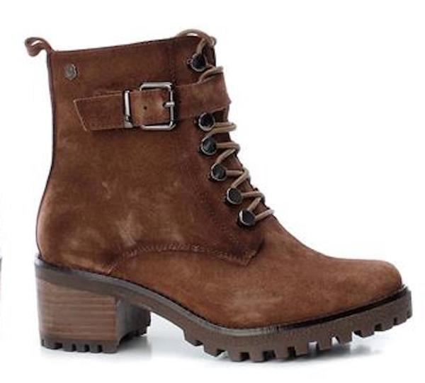 Large xti brown heel boot