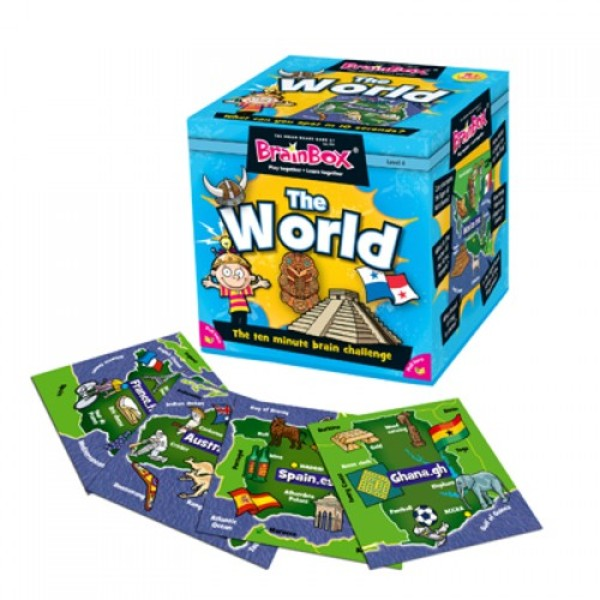 Large brainbox brain box the world geography memory game