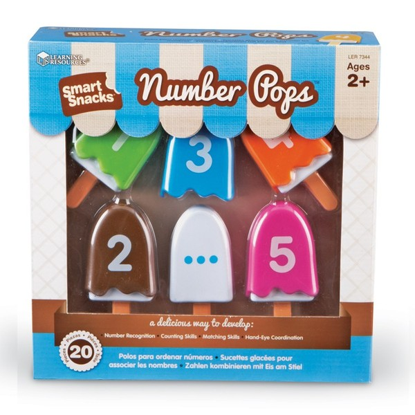 Large learning resources number pops numeracy toy toddler preschool 2 two years and up