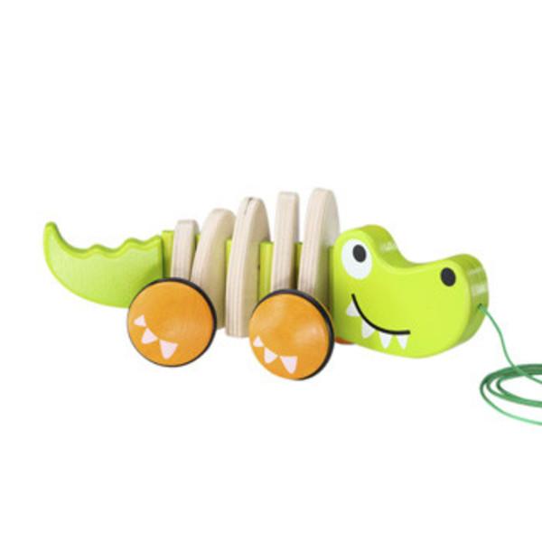 Large hape walk along croc pull along toy