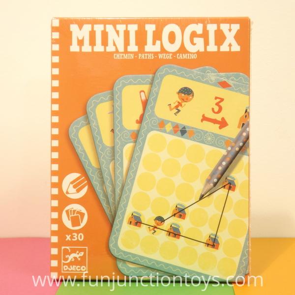 Large dj ml paths djeco logic puzzle card pencil game  w
