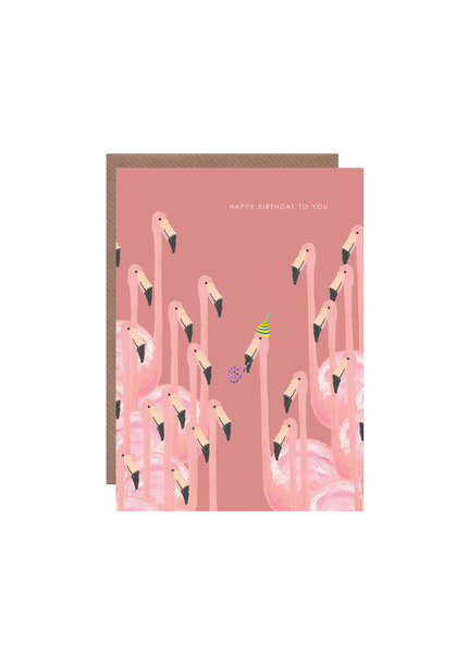 Large flamingos in pink