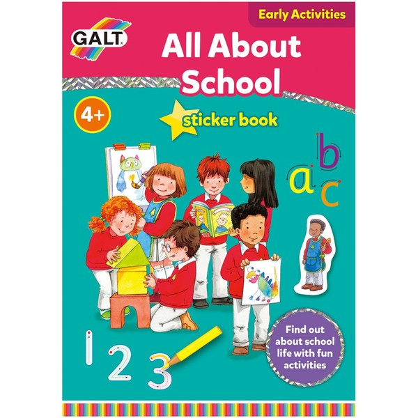 Large fun junction galt activity book stickers all about school introduction to big school primary school
