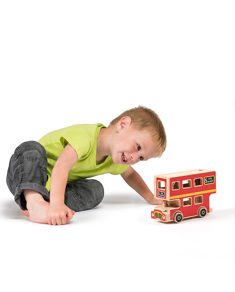 Large bus toy with passengers pasengers lanka kade fair trade toy toys wooden wood natural fun junction toy shop stop store crieff perth perthshire scotland 2