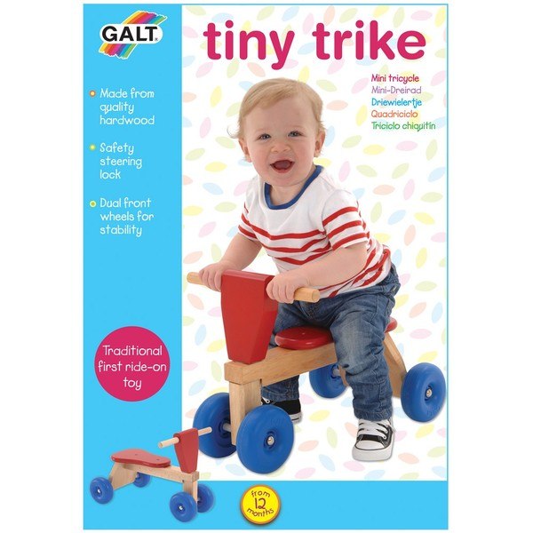 Large galt tiny trike first trike wooden traditional early years toddler for 12 twelve months 1 one year and up