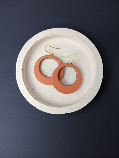 Large km mediun orange hoops