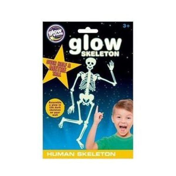 Large glow stars glow skeleton human