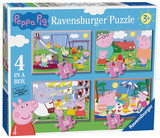 Small ravensburger fun junction toy shop perth crieff perthshire scotland jigsaw puzzle jig saw peppa pig 4 in a box puzzle collection selection
