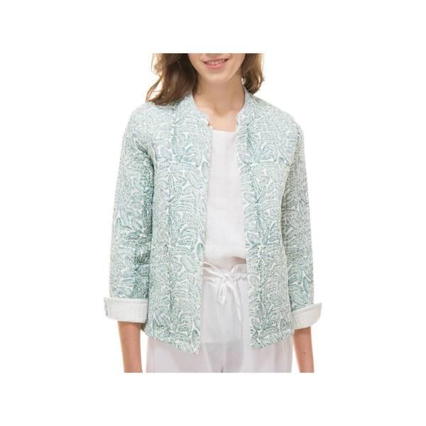 Large veste molletonnee palme 100 coton