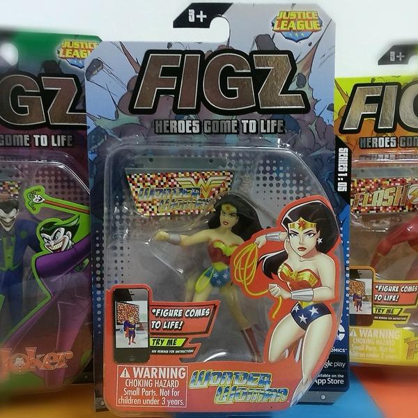 Large wonder woman wonderwoman figz action figure augmented reality 3d app figz justice league