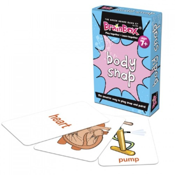 Large body snap biology science pairs card game